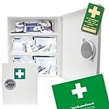 Verbandsschrank - Erste Hilfe Schrank - Kasten DIN 13157 inkl. Füllung, Verbandbuch und 10 Prüfsiegel