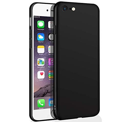 Whew iPhone 6S Schutzhülle, iPhone 6 hülle, Ultra Dünn Schwarz Matt Weiche Premium Silikon TPU Handyhülle, Anti-Fingerabdruck und Anti-Kratz Anti-Dropping Case Cover