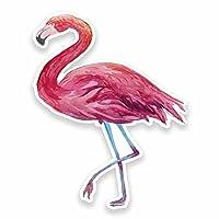 2 x Pink Flamingo Vinyl Sticker Decal Laptop Car Travel Luggage Label Tag #9626