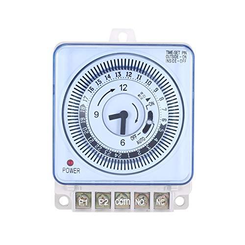 Tellaboull for Temporizzatore Meccanico Contatore orario 230V Promemoria 15min 24h Conto alla rovescia per Cucina Regolatore di Risparmio energetico Interruttore di temporizzazione Industriale