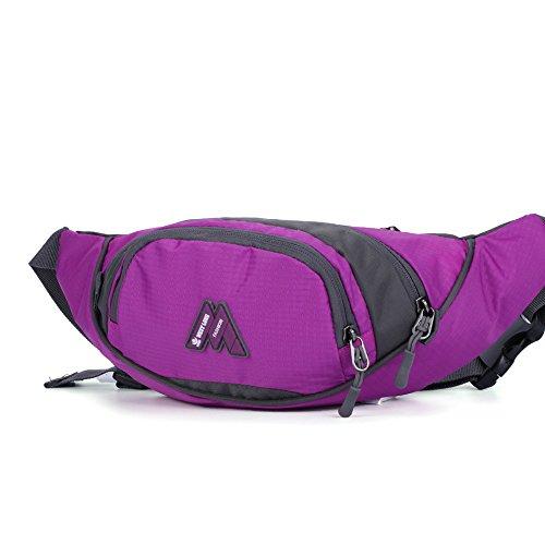 Wewod Mode Freizeit Taschen Wasserdichte Outdoor Sportarten (Rote) Lila