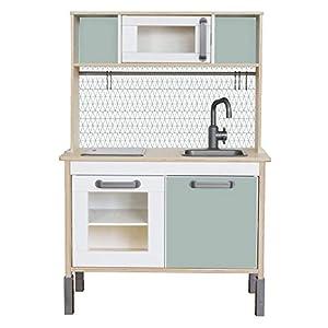 Limmaland Sticker passend für Deine IKEA Kinderküche DUKTIG (Farbe Mint) - Kinderzimmer Dekoration - Möbel Nicht inklusive