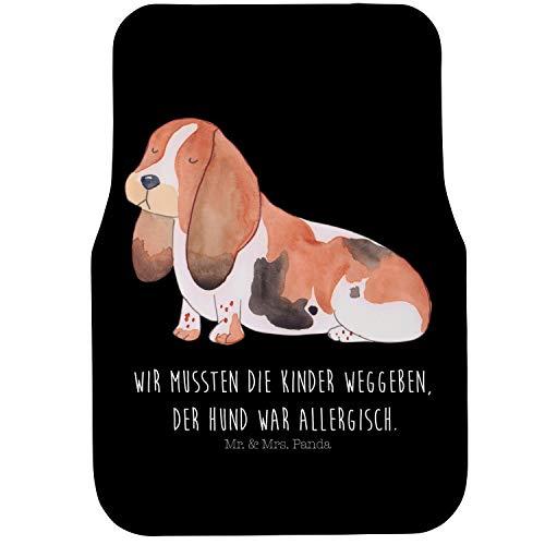 Mr. & Mrs. Panda Fahrer Autofußmatte Hund Basset Hound - Hund, Hunde, Haustiere, Hunderasse, Tierliebhaber Autofußmatten, Fußmatte Auto, Fahrer, Schmutzmatte Auto, lustig -