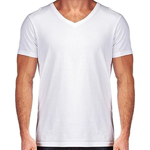 Camiseta V Cuello para Hombre - Tres Corazones by Digital-Art