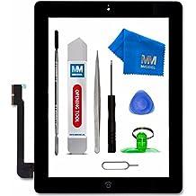 MMOBIEL Schermo frontale tattile di ricambio per iPad 3 (Nero) Incl Home Button flex supporto fotocamera e pre-installati adesivi con kit utensile