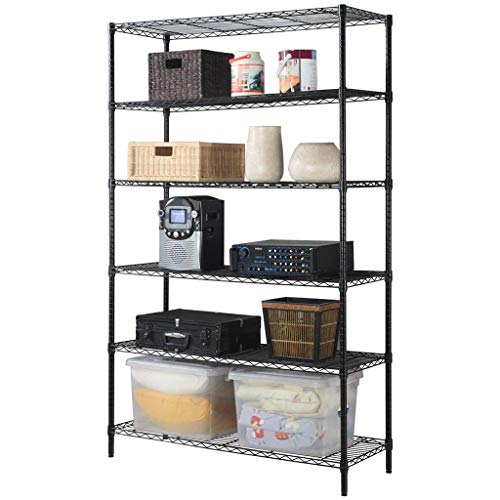 LUYIASI- Extended Version Carbon Steel 5-Tier schwere Regal Warehouse Debris Finishing Rack Storage Regale Shelf (größe : 120×45×200cm) - Keller-storage-shelf