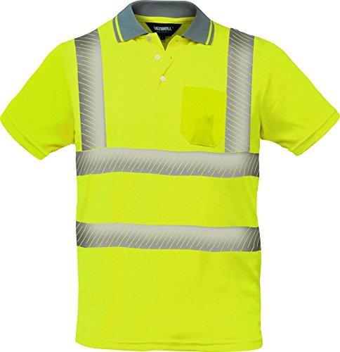 Preisvergleich Produktbild Warnschutz Polo-Shirt Coolpass mit segmentierten Reflexstreifen,Atmungsaktiv ,orange oder gelb Gr.XS - 5XL (XL, gelb)