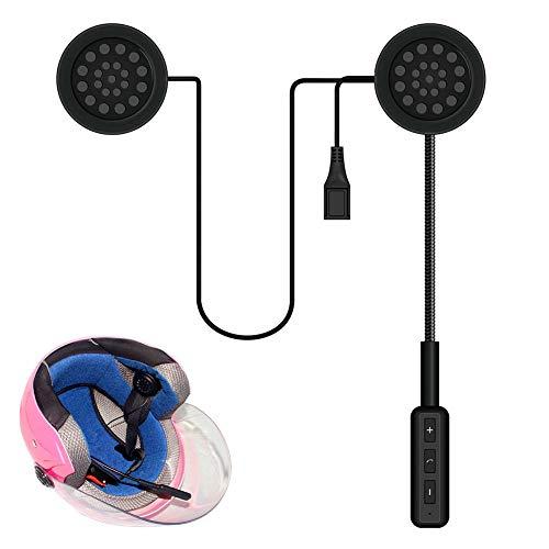 Yapott Motorrad Helm Headset Bluetooth Gegensprechanlage Headset Kabellos Helm Heap Kopfhörer (Handys Heap)