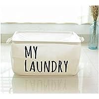 Preisvergleich für Yiuswoy Portable Rechteck Aufbewahrungsbox Aus Stoff, Spielzeug Aufbewahrung Für Kinder Große Faltbarer Wäschekorb Spielzeugkiste Mit Griffen - Weiß