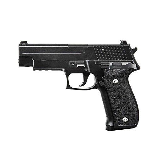 Galaxy pistola para airsoft, tipo Glock G26, con funda, culata con resorte completamente metálico, de recarga manual (0,4 julios)