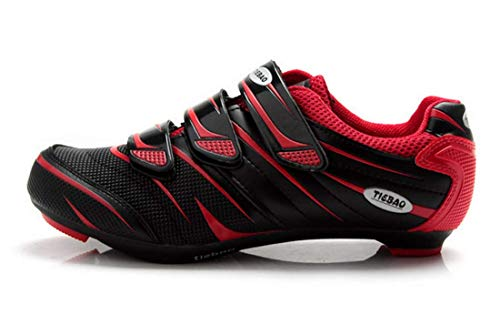 Scarpe Ciclismo da Strada Bici da Corsa Professionale Traspirante Compatibile Sistema Look Unisex Uomo e Donna (38, Rosso)