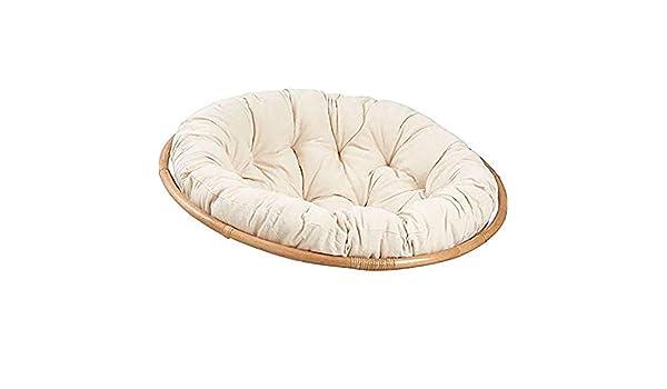 DLPY Rond Accroch/é Chaise Swing Coussin Tuffet/é Papasan Coussin De Chaise Amovible pour Plein Air Jardin sans Le Pied-Le Riz Blanc Diam/ètre80cm 31inch