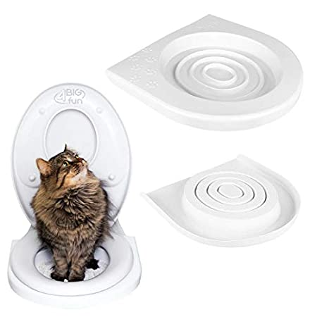 4BIG.fun Katzen WC-Sitz Toiletten Training System Katzentoilette Katzenklo Toilettensitz Trainingssystem zum eingewöhnen…