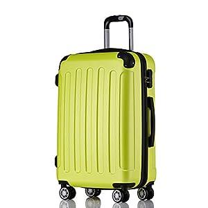 BEIBYE 2045 Hartschale Koffer Kofferset Trolley Reisekoffer Größe XL-L-M in 12 Farben (Grün, Set)