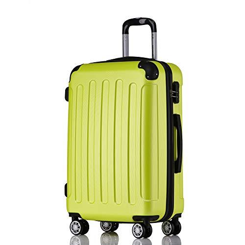 BEIBYE Hartschalen-Koffer Trolley Rollkoffer Reisekoffer Handgepäck 4 Rollen (M-L-XL-Set) (Green, L)