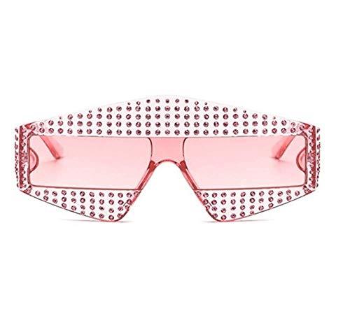 DX Modenschau glänzend rechteckig s Frauen 400 Strass Rahmen Männer 45495 Brillen Modefarbe