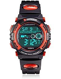 Socico Niños Digital Relojes para Niños Deportes–5 ATM Reloj Deportivo Impermeable al Aire Libre