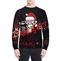 Cebbay Navidad Top de Manga Larga para Hombre Impresión 3D Camisa Liquidación Camisa Polo Ropa Hombre Invierno 2018 Prendas de Punto
