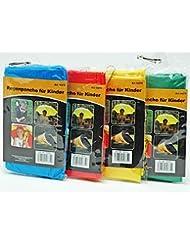 Poncho imperméable pour enfant jaune, vert, bleu, rouge