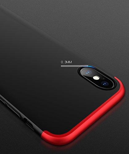 iPhone 6 Plus Custodia iPhone 6S Plus Cover,2ndSpring 360 Gradi della copertura completa 3 in 1 Hard PC Case Cover con Protezione Dello Schermo di Vetro Temperato,Ultra Sottile Anti-Scratch Bumper Pro Blu