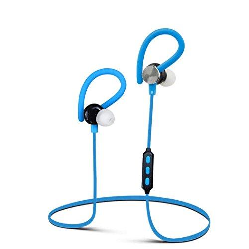 Koly Bluetooth Wireless Headset Wonder Deportes del auricular del auricular para el iPhone Samsung(Azul)