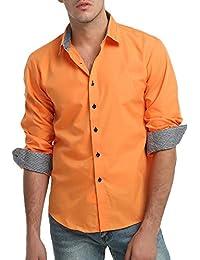 YanHoo Camisa de Vestir de Manga Larga de Corte Recto sólido Formal Ocasional del otoño de los Hombres de la Blusa Superior Moda Casual…