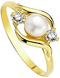 Sortija oro 18k perla multipiedra [AB3110]