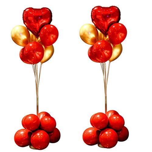 XUZg-balloons Partei-Ballon-Satz, Ballon-Anzeigen-Geburtstags-Hochzeits-Bankett-dekorativer Ballon-Hotel-Schlafzimmer-dekorativer Spalten-Latex-Ballon (Color : A) (Dekoration Sie Spalten Kaufen Für Die)