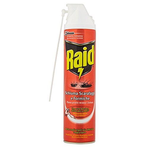 Raid Scarafaggi e Formiche Schiuma Attiva Spray - 400 ml