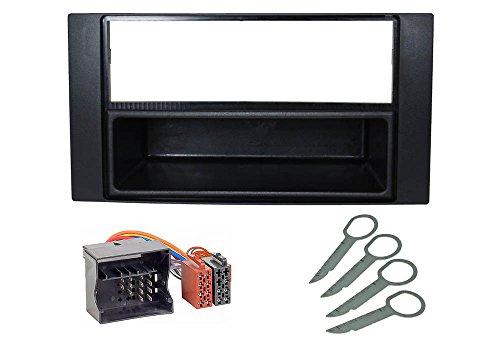 Audioproject A160 - Auto-Radio Einbau-Set FORD Focus 2 C-Max Transit Fiesta Fusion Kuga S Max Radio-Blende Radio-Adapter Entriegelungsbügel schwarz
