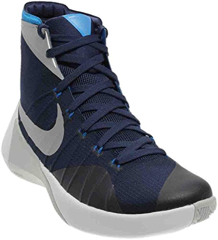 Nike Men'S Hyperdunk 2015 Basketball Shoe, Midnight Navy/Photo Blue/White/Metallic Silver, 45.5 D(M) EU/10.5 D...