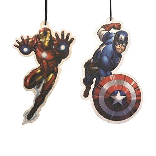 Marvel Avengers Auto-Lufterfrischer, Doppelpack - Captain America & Iron Man -