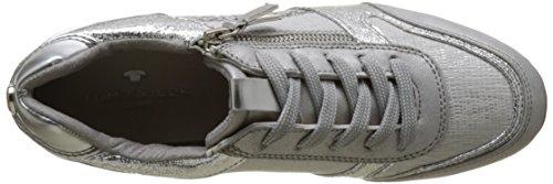 TOM TAILOR Damen 2794105 Sneaker Silber (Silver)