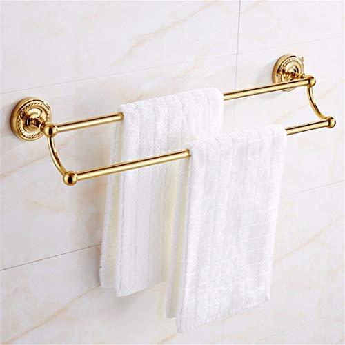 Bathroom Accessories Badaccessoires Sets Im europäischen Stil alle Kupfer, Gold mit rundem Boden Twist, Badezimmerarmaturen, Handtuchhalter, Handtuchhalter, 2-polig -