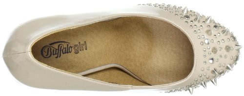 Buffalo Girl 325785 RSD YJZQ 143749, Scarpe col tacco donna Beige (Beige (BEIGE 01))