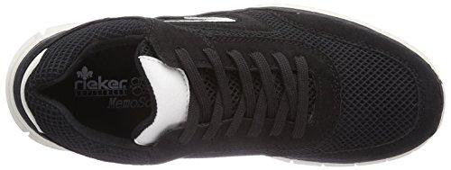Rieker B4805/15, Baskets mode homme Noir (Schwarz/Schwarz/Weiss / 00)