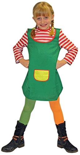 Rot, Weiß & Grün für Mädchen | Größe 116/128 | 1-teilige Giftzwerg Kostümierung für Karneval | Zicken-Verkleidung für Fasching | Gören Karnevalskostüm für Fastnacht & Mottopartys (Freche Kostüme)
