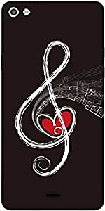 Snoogg Note Of Love Designer Protective Back Case Cover For Micromax Canvas Silver 5 Q450