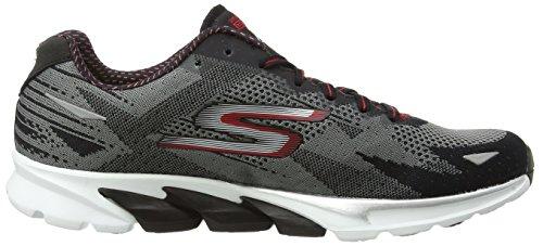 Skechers  Go Run 4, Chaussures de Running Compétition homme Gris - Grey (Ccbk)