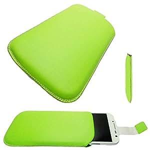 caseroxx Slide-Etui Handy-Tasche für Samsung Galaxy S4 i9500 aus Kunstleder, Handy-Hülle in grün