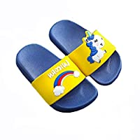 Coralup Boys Girls Unicorn Slide Sandals Children Anti-Slip Beach Summer Slipper Shower Pool Shoes (5 Colors Size UK 10.5 Child to UK 2)