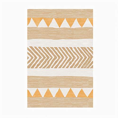 Moderne Linien Moderne-bett (RUG LUYIASI- Moderne einfache Linie Wolldecke für Wohnzimmer-Bett-Raum-Bett-Sofa neben der Bodenmatte Rutschfester leicht sauberer Teppich, Stärke: 6mm Non-Slip mat (Farbe : D, größe : 100x160cm))