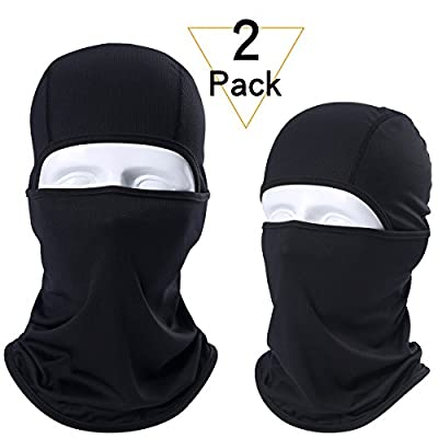 WTACTFUL 2 Pack or 1 Pack - Windproof Breathable Balaclava Helmet Liner Face Mask Protection for Motorbike ATV Bike Riding Cycling Motorcycle Hunting Hiking Fishing Outdoor Sports fit Men Women Youth Adult by WTACTFUL