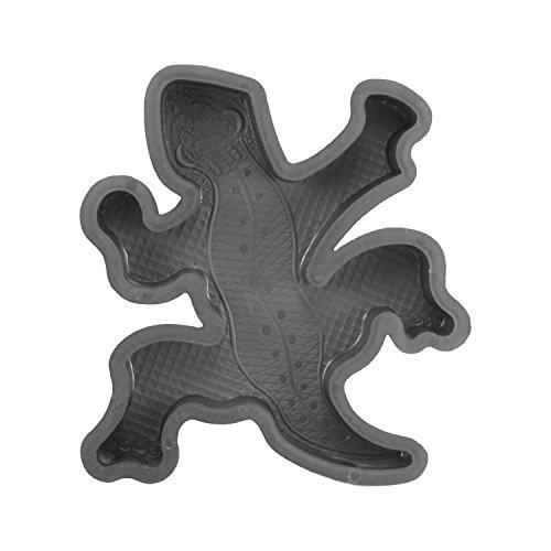 @tec Betonform Schalungsform Gießform Plastikformen für Beton, Trittsteinplatte, Bodenplatten, Trittsteine, Gartenplatten, Betonplatten, Pflasterform Salamander 39x33x5 cm