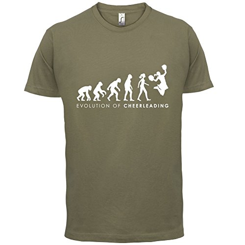 Evolution of Woman - Cheerleading - Herren T-Shirt - Khaki - (Kostüme Tango Männer Tanz)