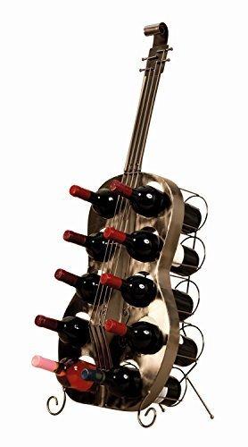 Exklusives und riesiges Weinregal in Form einer Gitarre Höhe 101 cm