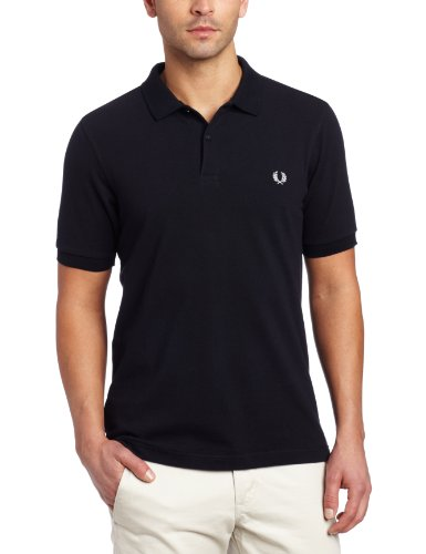 fred-perry-fp-plain-shirt-maglietta-uomo-navy-l