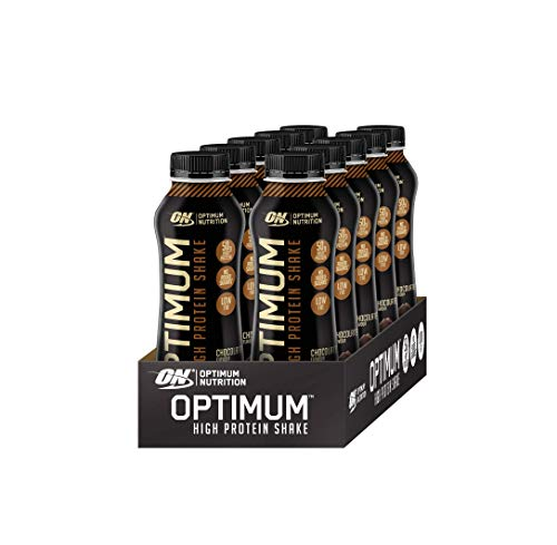 Optimum Nutrition High Protein Shake (Ready To Drink, 50g Eiweiß, 21g Kohlenhydrate und wenig Fett) Chocolate, 1er Pack (10 x 500ml) -