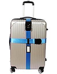 Queta–Cinturón de Seguridad TSA Candado maletín banda Cruz equipaje Correa Viaje Luggage Straps