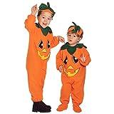 Kinder Kürbiskostüm Halloween Kürbis Kostüm XXS 104 cm 2-3 Jahre Halloweenkürbis Kinderkostüm Pumpkin Halloweenkostüm Gemüse Faschingskostüm Herbst Mottoparty Verkleidung Karneval Kostüme Kinder